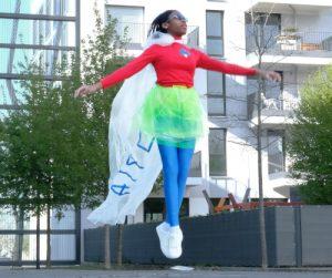 Mädchen in der Luft